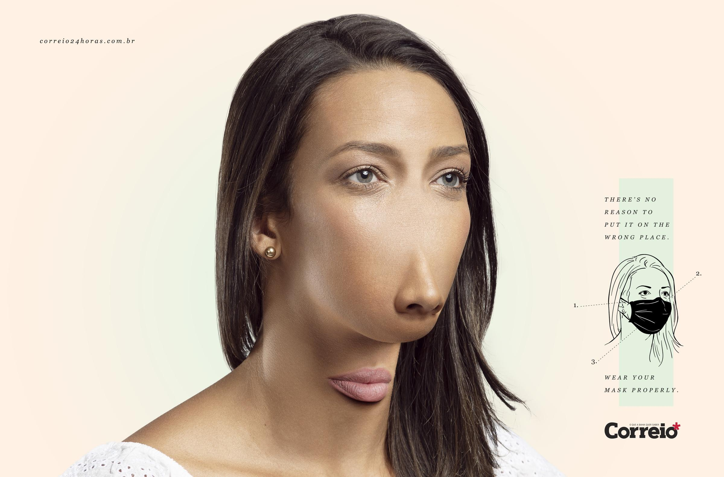 mujer máscarilla