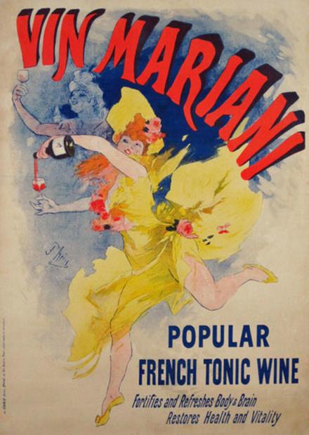El vino Mariani causó sensación entre la élite intelectual europea. Parece que les abría la mente.