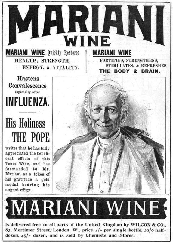 Al papa León XIII le gustaba más el vino Mariani que el vino de misa.