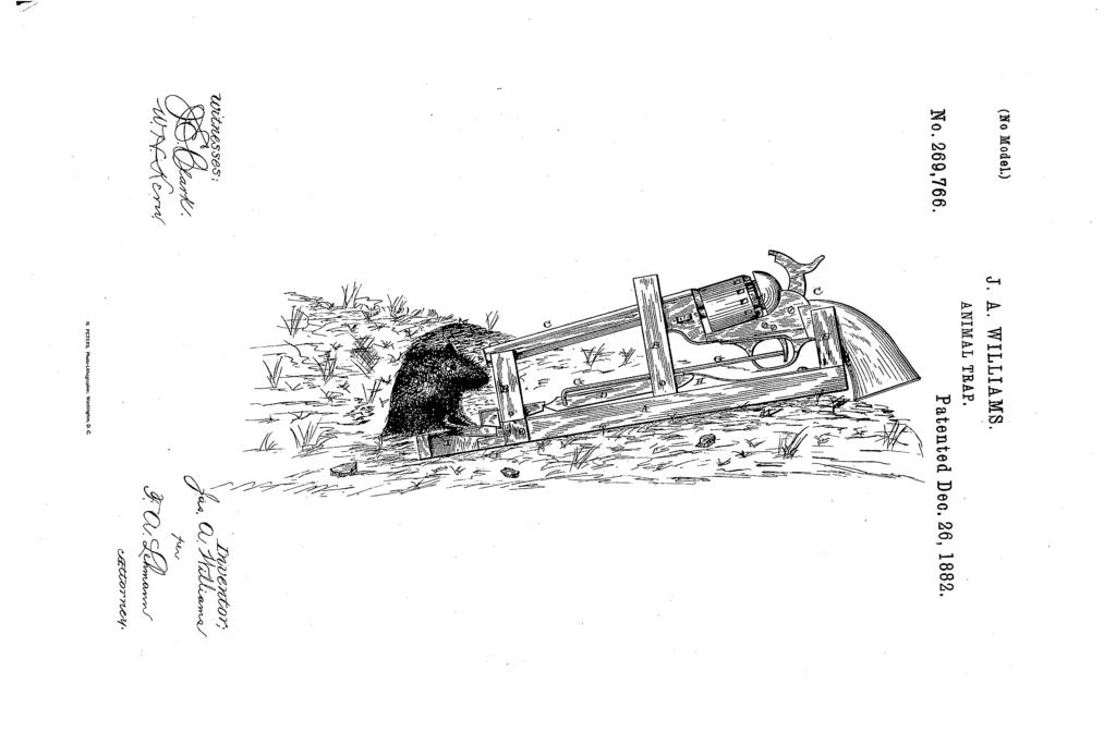 Pistolas contra ratas, un invento abocado al fracaso.